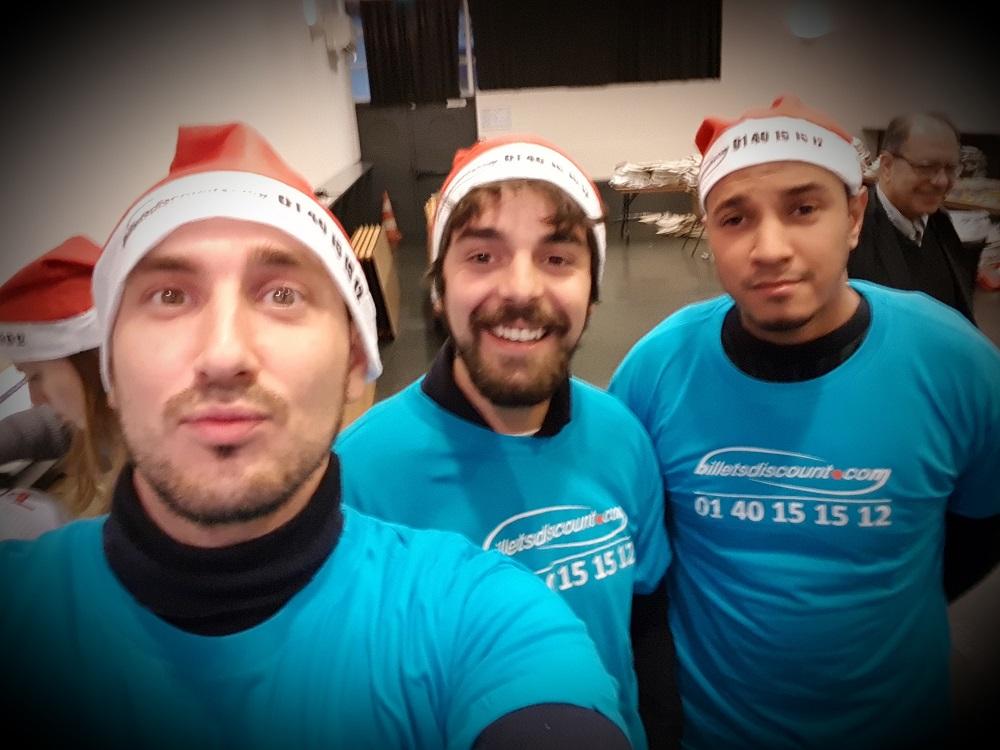 La team Billets Discount lors du Chanté Noël